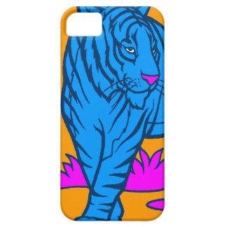 Tiger för neon för Corey tiger80-tal (blått) iPhone 5 Skal