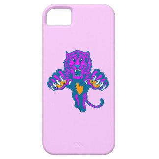 Tiger för neon för Corey tiger80-tal Pouncing iPhone 5 Skydd