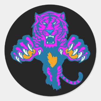 Tiger för vintage för Corey tiger80-tal våldsam Runt Klistermärke