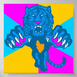 Tiger för vintage för Corey tiger80-tal våldsam Po Print