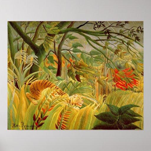 Tiger i en tropisk storm 1891 affischer