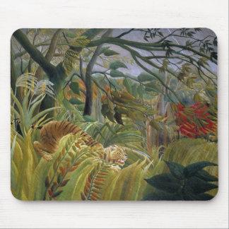 Tiger i en tropisk storm av Henri Rousseau Musmatta