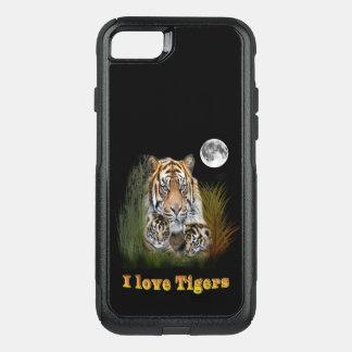 Tiger i natten OtterBox commuter iPhone 7 skal