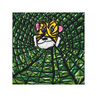 Tiger och smaragdar canvastryck