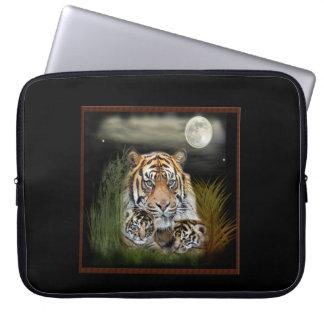 Tiger och ungar laptop fodral