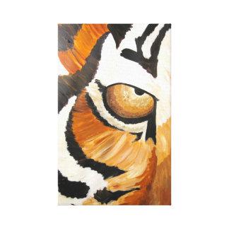 Tiger öga (akrylen vid Kimberly Turnbull konst) Canvastryck