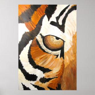 Tiger öga (akrylen vid Kimberly Turnbull konst) Poster