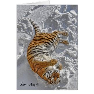 """Tiger """"snöängel """", hälsningskort"""