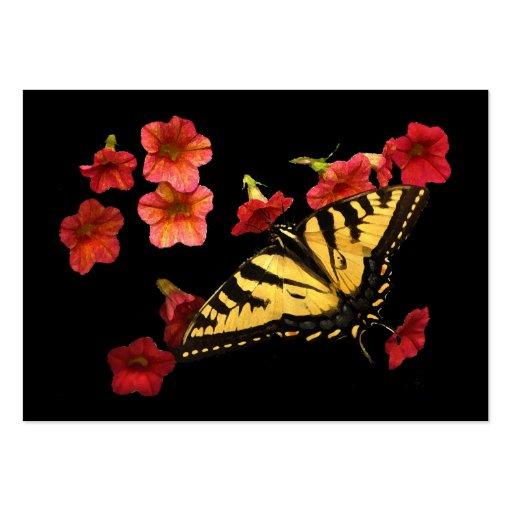Tiger Swallowtail på röd blommaATC Visitkort Mall
