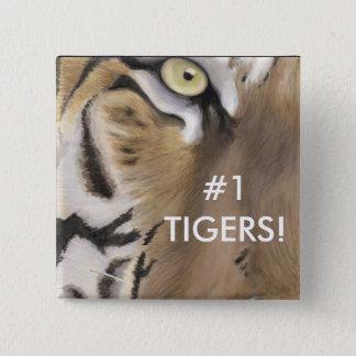 Tigeransikte Standard Kanpp Fyrkantig 5.1 Cm