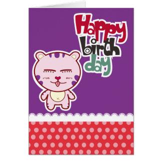 Tigergrattis på födelsedagenkort hälsningskort