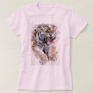 Tigern vrålar T-tröja T Shirts