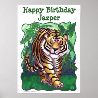 Tigerpartyet centrerar affischer