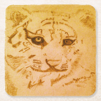 Tigerunderlägg Underlägg Papper Kvadrat