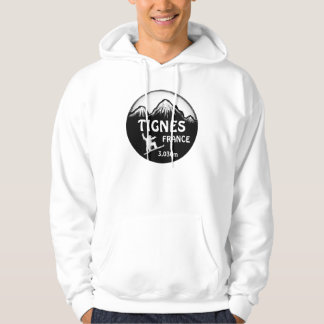 Tignes frankriken svärtar hoodien för grabben för sweatshirt med luva