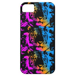 Tigrar för neon för Corey tiger80-tal iPhone 5 Case-Mate Fodral
