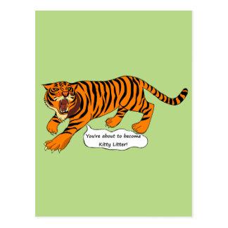 Tigrar, lejon och vitsar vykort