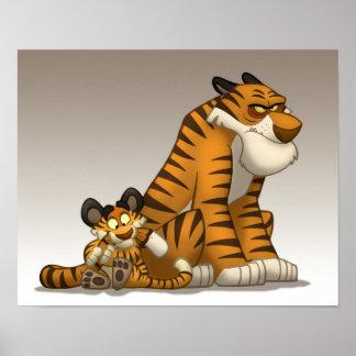 Tigrar på en affisch