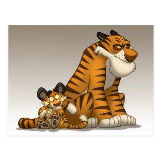 Tigrar på en vykort