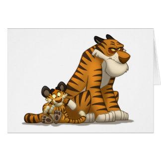 Tigrar på ett kort