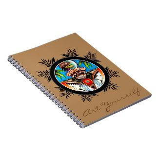 Tiki groda anteckningsbok