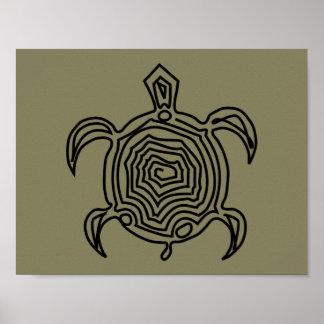 Tiki sköldpaddaaffisch poster