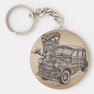 Tiki Woodie Rund Nyckelring