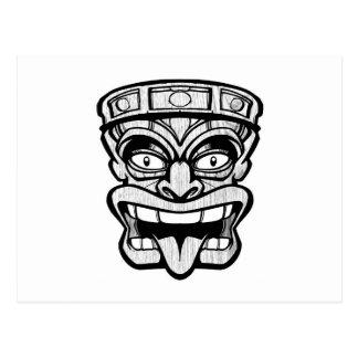 tikien maskerar hawaiansk konst vykort