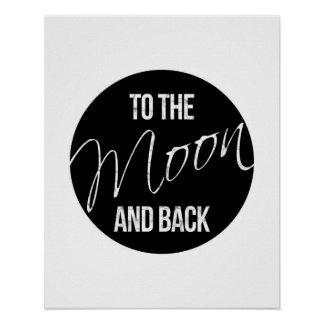Till affischen för måne- och print