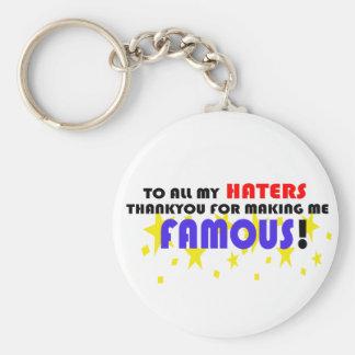 Till alla min Haters! Rund Nyckelring