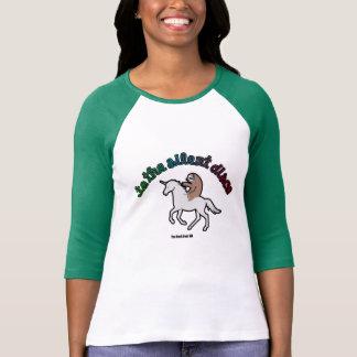 Till den tysta diskoflickabaseballet 2 t-shirt