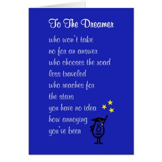 Till drömmaren - en dikt för hälsningskort