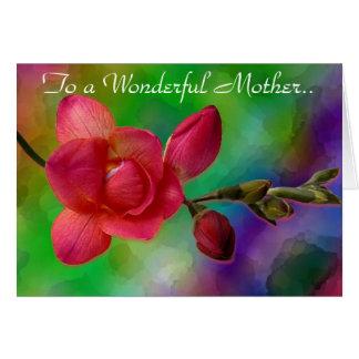 Till en underbar mor. hälsningskort