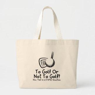 Till Golf eller att inte golf Jumbo Tygkasse