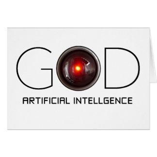Till HAL med konstgjord intelligens Hälsningskort