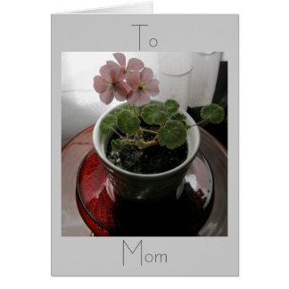 Till mamman hälsningskort