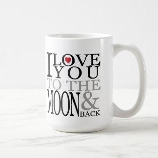 Till månen & den tillbaka mors dagmuggen kaffemugg