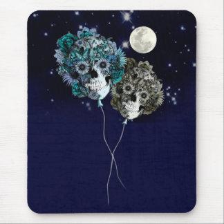 Till månen sväller skallen för natthimmel musmatta