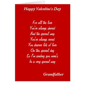 Till min farfar på valentin dag hälsningskort