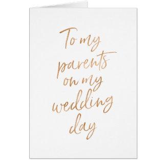 Till min föräldrar på min snyggt för bröllop | hälsningskort