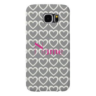 Till mönster för Paris kärlekhjärtor Galaxy S5 Fodral
