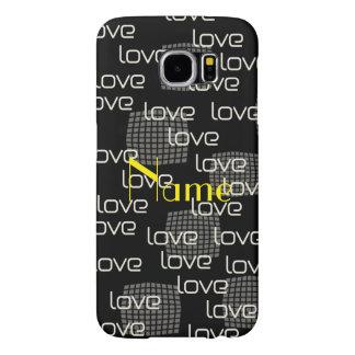 Till mönster för Paris kärlektext Galaxy S5 Fodral