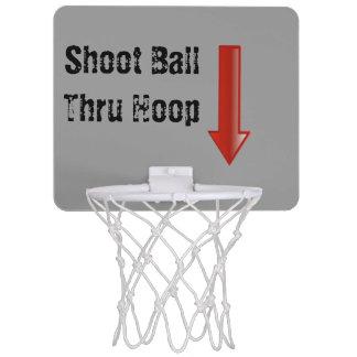 Till och med för basketboll för ring den mini- Mini-Basketkorg