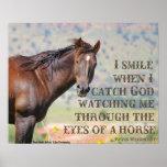 Till och med ögonen av en häst poster