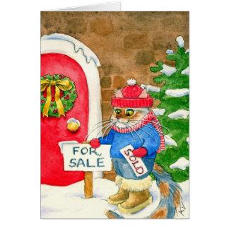 Till salu julkatthus hälsningskort