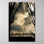 Till salu Le Bon Marché Paris frankrikekonst Affischer