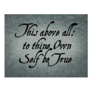 Till Thine den egna själven var riktig Vykort