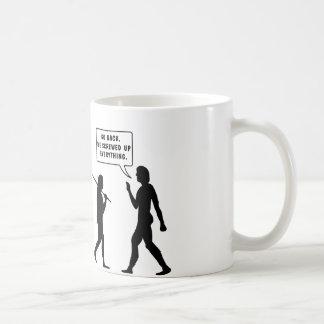 Tillbaka går vi skruvade upp Eveyrthing Kaffemugg