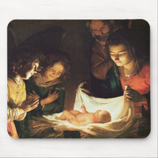 Tillbedjan av bebiset, c.1620 musmatta