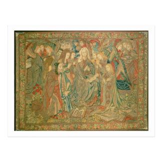 Tillbedjan av Kristusbarnet (tapestryen) Vykort